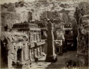 Kailash_temple,Ellora,1880_(2)